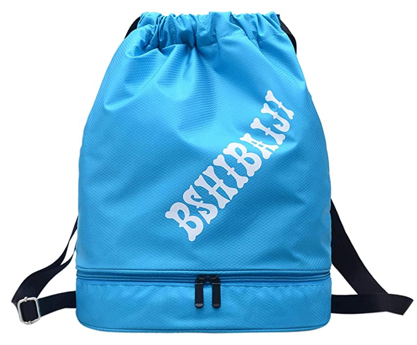 浸す影響するテンポ[アクアミー] ナップサック ジムバッグ 巾着袋 リュック 濡れ物用 内ポケット付き ジムサック