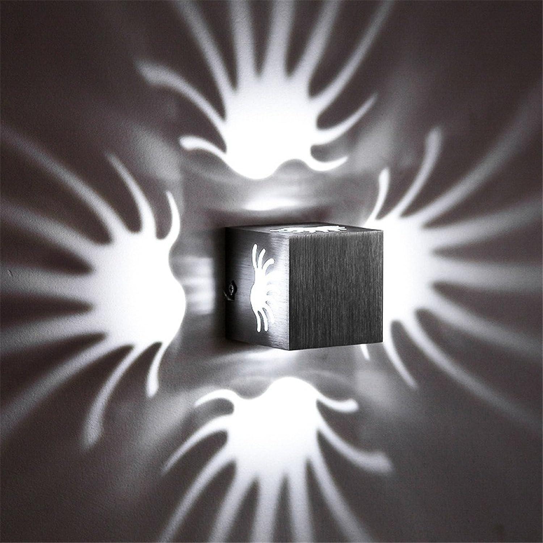 Wandbeleuchtung,Led-Wandleuchte Hotel moderne LED-Wandleuchte kreative Square Grün, 80 mm  80 mm