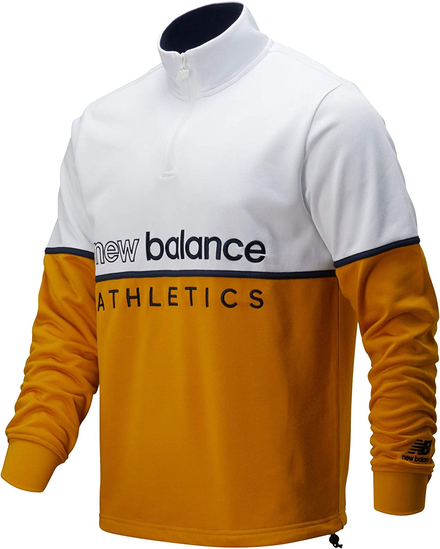 Amazon.com: New Balance Athletics Track 1/4 Zip Felpa Bianca da ...