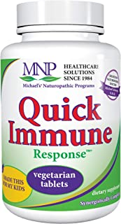 Michael's Naturopathic Programs Quick Immune Support - 60 Vegan Tablets - Immune System Support Supplement with Vitamin A,...