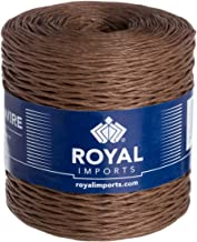 Brown Floral Bind Wire Wrap Twine, Paper Covered Waterproof Rustic Vine for Flower Bouquets 26 Gauge (673 Ft) by Royal Imp...