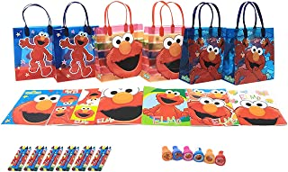 Sesame Street Elmo Party Favor Set - 6 Packs (42 Pcs) by GoodyPlus