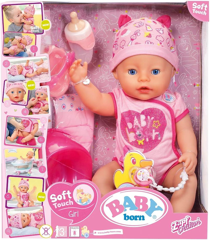 Gio  Preziosi bambino Born, Girl Soft Touch Bambola 43 cm