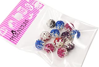 10mm Mult-Color Crystal Rhinestone Shamballa Polymer Clay Pave Disco ball Beads