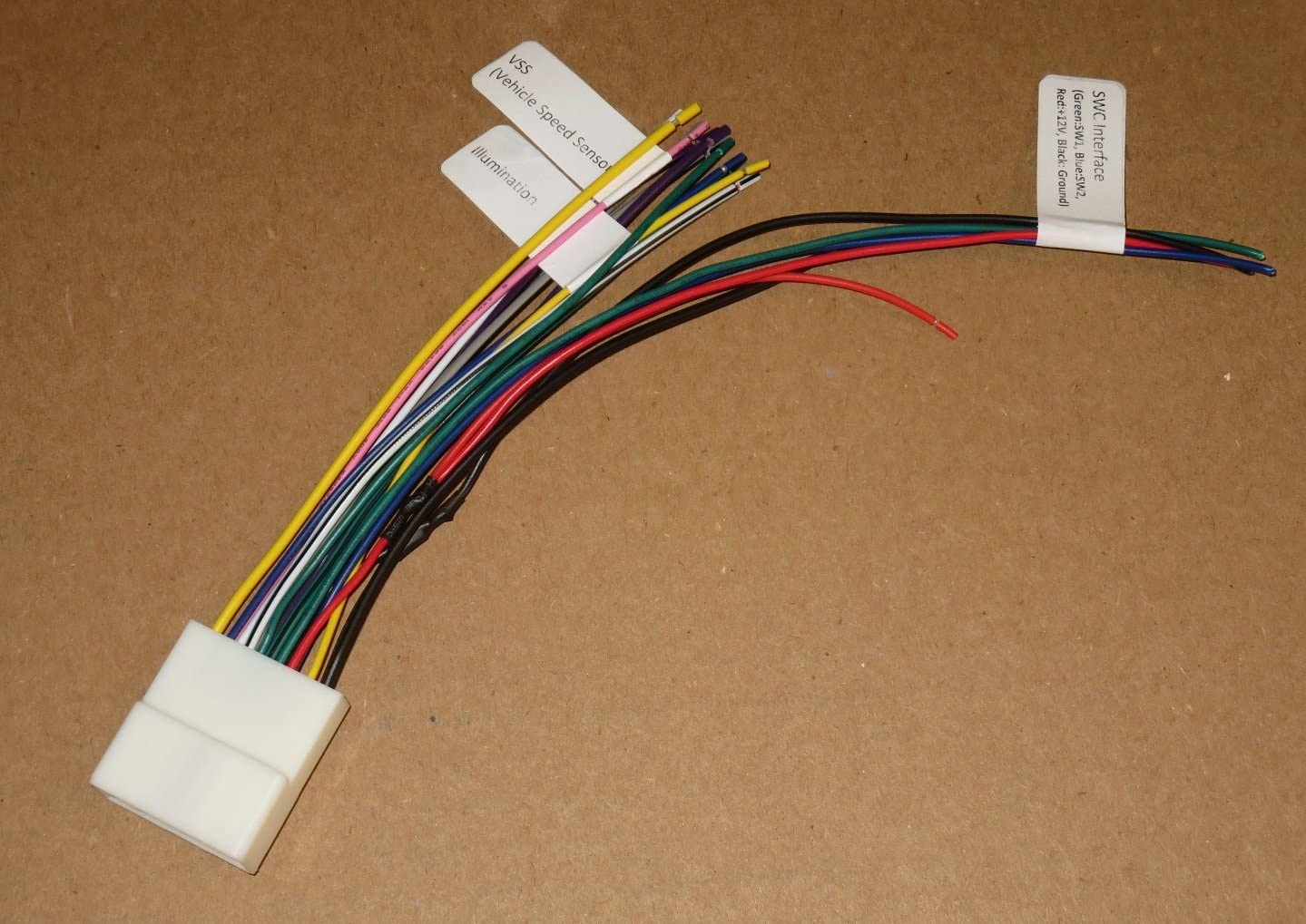 amazon.com: 20-pin headunit/radio wiring harness compatible with subaru/nissan  (with steering wheel switch wires): car electronics  amazon.com