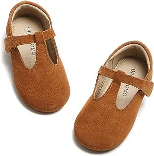 Girls T-Strap Dress Shoes Comfort Soft Non-Slip Mary Jane Ballet Flat Shoes