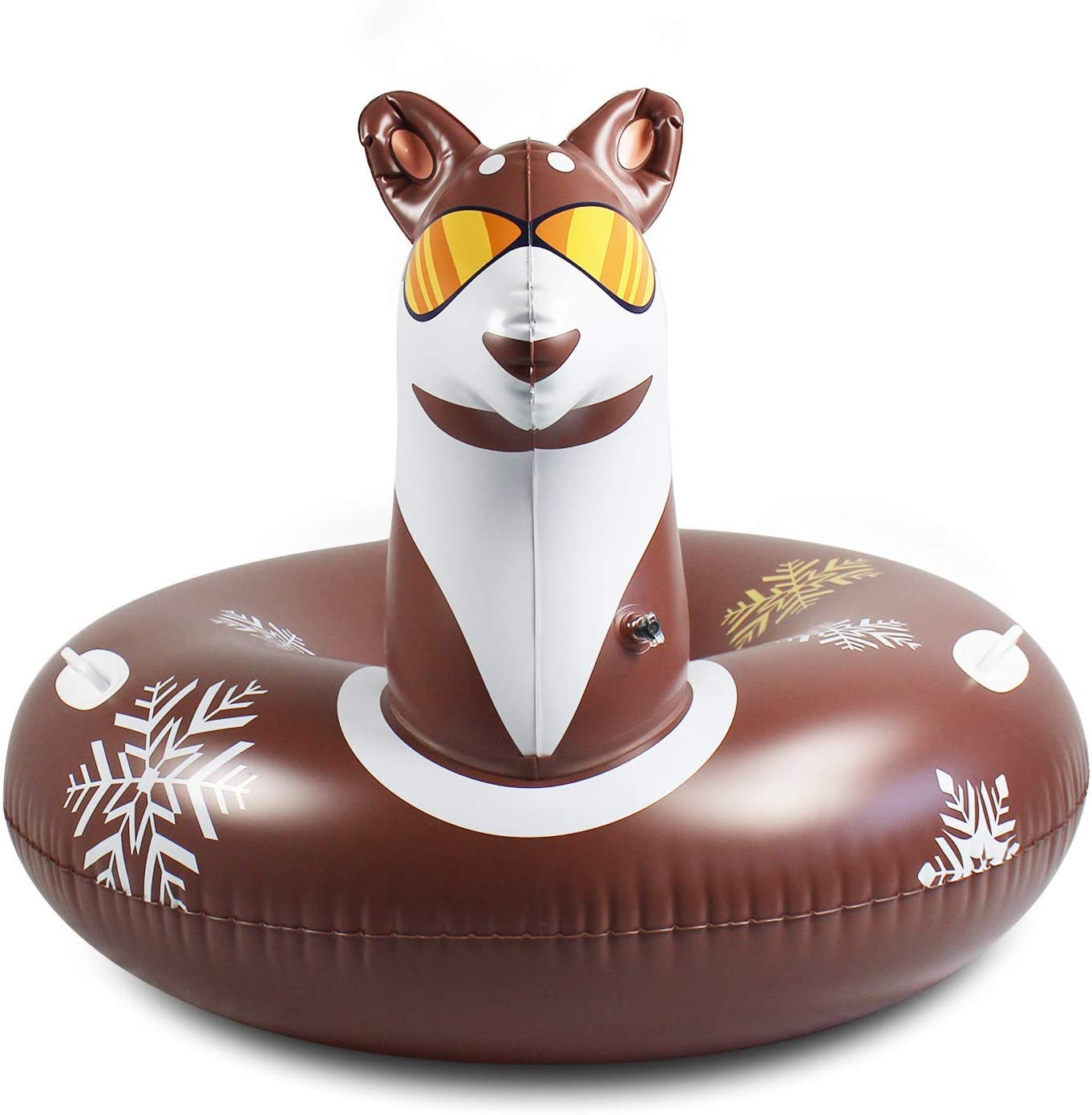 Selomore Snow Tube 46 Inch Inflatable for Sled Ad Topics on Deluxe TV Kids and