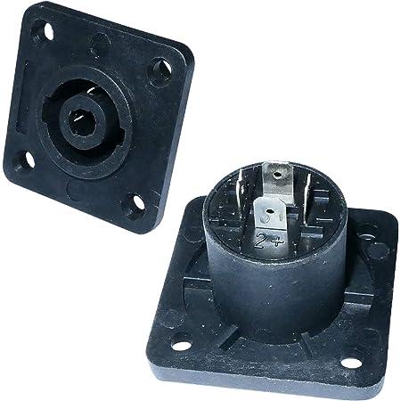 AERZETIX - Lot de 2 Prises Chassis SPEAKON 4 Broches pins pôles connecteur fiche pour Haut-parleurs Enceintes