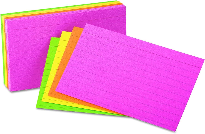Universal 47257 47257 47257 liniert NEON GLOW Index Karten, 5 x 8, sortiert (100 Stück) B019CW0VLY | Niedriger Preis und gute Qualität  a79692