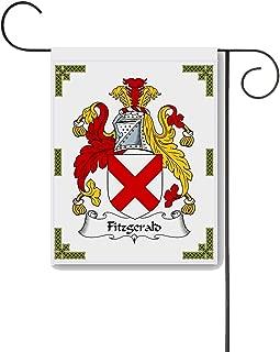 Carpe Diem Designs Fitzgerald Coat of Arms/Fitzgerald Family Crest 11 X 15 Garden Flag – Made in the U.S.A.