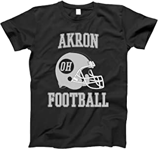4INK Vintage Football City Akron Shirt for State Ohio with OH on Retro Helmet Style