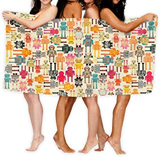 Colorful Robots Sport Towel - Travel Towels - 100% Microfiber - Gym - Beach - Surf - Camping - Backpacking- Ultra-Light - Fast Drying