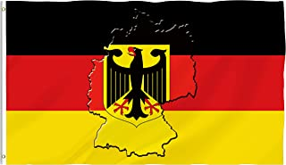 Bonsai Tree German Flag 3x5 Ft Double Sided and Double Stitched Germany Eagle Flags with Brass Grommets National Garden House Outdoor Banners