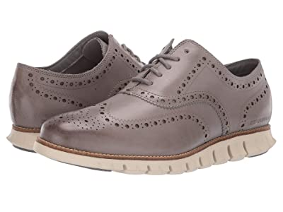 Cole Haan ZeroGrand Wing Ox Leather (Ironstone Leather Closed/Ivory) Men