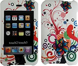 White Autumn Flower Design Crystal Hard Skin Case Cover for Apple Ipod Touch iTouch 2nd and 3rd Generation Gen 2g 3g 2 3 8gb 16gb 32gb 64gb