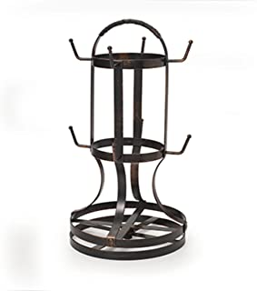 Gourmet Basics by Mikasa 5158729 Metal Rotating 8-Cup Mug Tree, Antique Black