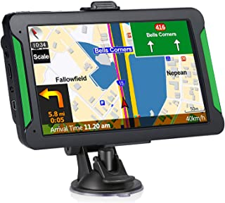 Car GPS Navigation, 7-inch Touch Screen Vehicle GPS, Free Lifetime maps of The United States, Canada and Mexico, Lane Assi...