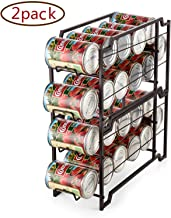 Bextsware Beverage Can Dispenser Rack, Stackable Can Storage Organizer Holder for Canned food or Pantry Refrigerator, Bronze(2 Pack)