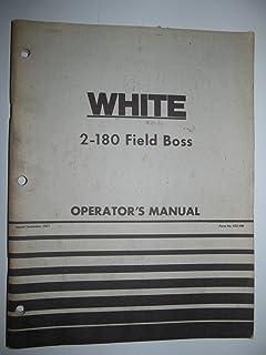 White 2-180 Tractor Operators Manual