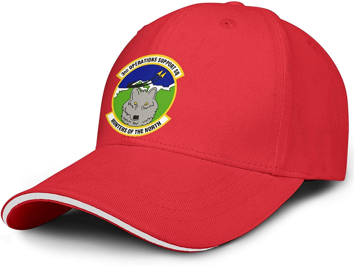 SWNCNC Unisex 3D-Operations-Support-Squadron- Caps Fitted trust Seasonal Wrap Introduction Hats