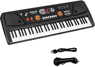 M SANMERSEN Keyboard Piano for Kids, Kids Piano 61 Keys Portable Pianos Keyboards with Microphone MP3 Function Led Display...