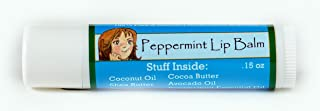 Cheeky Maiden Peppermint Lip Balm 100% Natural Handmade with Natural Beeswax Cocoa Butter Unrefined Shea Butter Avocado Oil Peppermint Essential Oil 0.25 oz Made in USA