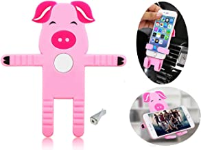 Universal Car Air Vent Cell Phone Holder/Flexible Cell Phone Holder/Air Vent Car Mount Holder for Cellphone GPS Navigator/iPhone Android Phone Stand/Cellphone Tab IPad Cradle Holder (Pig)
