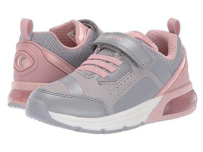 Geox Kids Jr Spaceclub 5 (Little Kid) (Grey/Pink) Girls Shoes