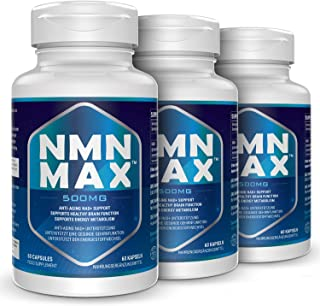 3 Pack NMN Capsules with Maximum Strength- 500mg- High Absorption Nicotinamide Mononucleotide Supplement- Supports Brain F...