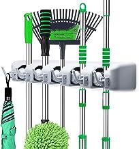 Suporte de vassoura para parede LETMY – suporte para pendurar vassoura e vassoura – organizador de ferramentas de jardim e...