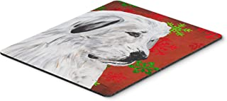 Caroline's Treasures Great Pyrenees Red Snowflakes Holiday Mouse Pad/Hot Pad/Trivet (SC9762MP)
