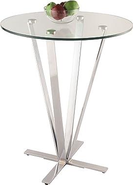 MILAN Ithaca Clear/Chrome High bar Counter Table