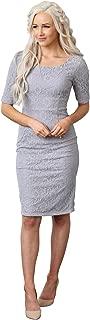 June Modest Pencil Dress In Lace