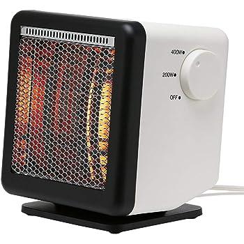 【同じ電気代で2倍の暖かさの省エネ設計】ビームヒーター (白, キューブ BH-400 (W23×H18.4×D25.3cm 1900g) 1シーズンで約10000円 節約