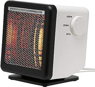 【同じ電気代で2倍の暖かさの省エネ設計】ビームヒーター (白, キューブ BH-400 (W23×H18.4×D25.3cm 1900g)