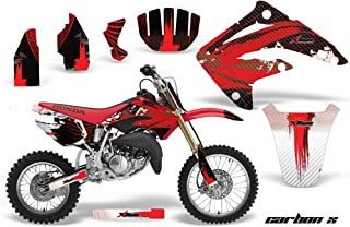 AMR Racing MX Dirt Bike Graphic Kit Sticker Decals Compatible with Honda CR85 2003-2007 - Carbon X Red