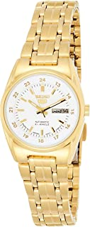 Seiko Women's Automatic Watch, Analog Display and Stainless Steel Strap SYMC02J1 Gold