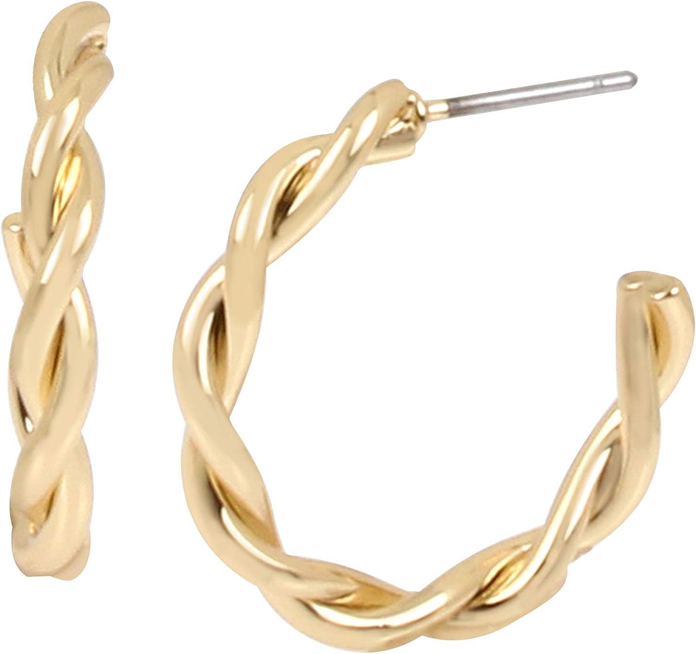 Small Swirl Hoop Earrings
