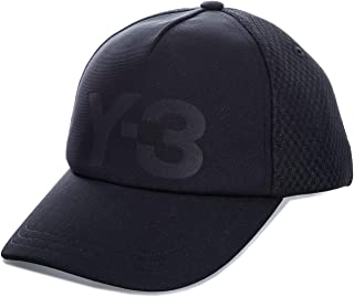 Y-3 Mens Trucker Cap in Black.