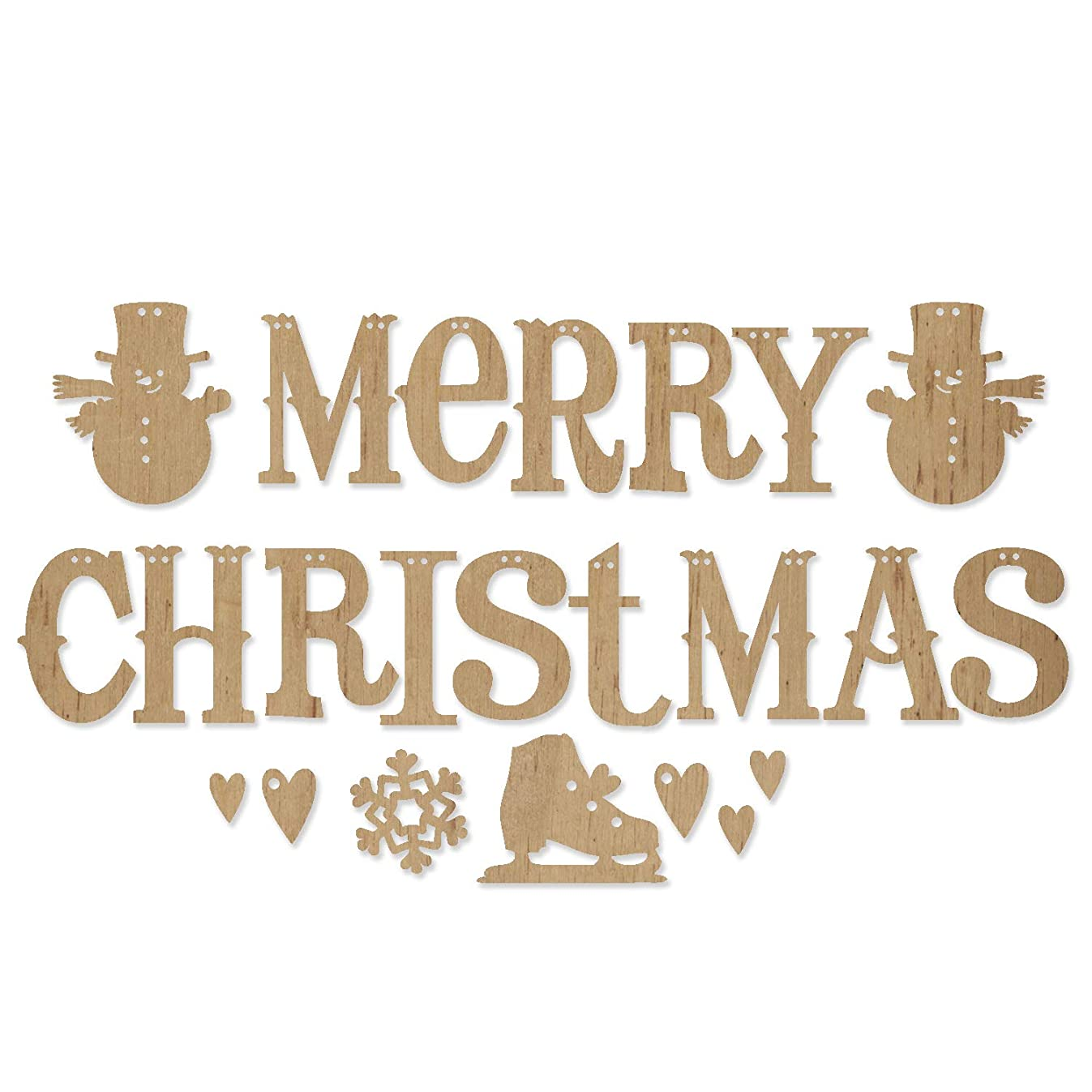 ADORNit DIY Wood Swag Banner Hanger - Merry Christmas