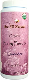 Bee All Natural Organic Baby Powder, Talc-Free, 4-Ounce Bottle…. Gluten Free & USDA Organic