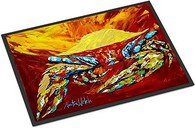 """Caroline's Treasures Crab Buster Brown Indoor or Outdoor Doormat, Multicolor, 24"""" x 36"""""""