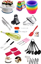Cake Decorating Supplies, GreatMH 254 PCS Piping Set Baking Accessories Tools Piping Bag and Tips Frosting Bags and Tie, I...