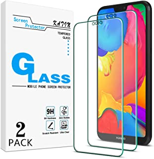[2-Pack] KATIN for Huawei P20 Lite Tempered Glass Screen Protector No-Bubble, 9H Hardness, Easy to Install