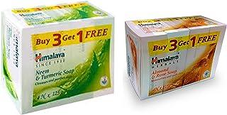 Himalaya Neem and Turmeric Soap, 125g (Buy 3 Get 1 Free) & Himalaya Almond and Rose Soap, 125g (Buy 3 Get 1 Free)