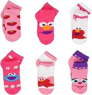 Sesame Street Elmo Abby Toddler Girls 6 pack Quarter Socks