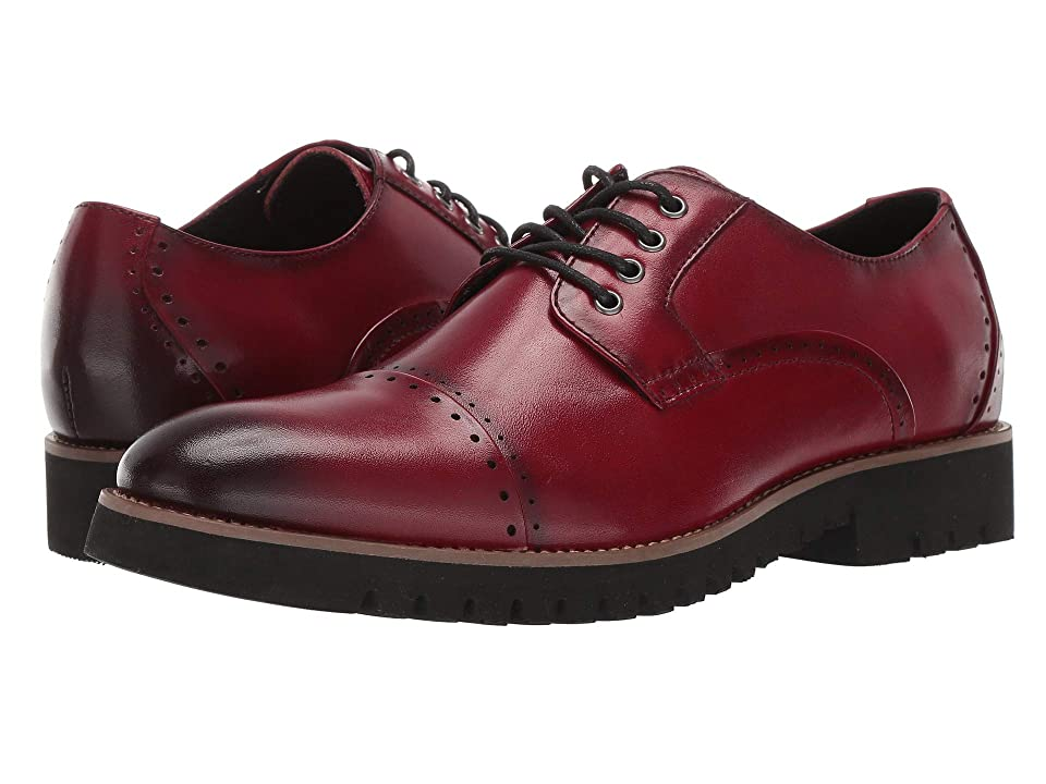 Stacy Adams Barcliff Cap Toe Lace Up Oxford (Cranberry) Men