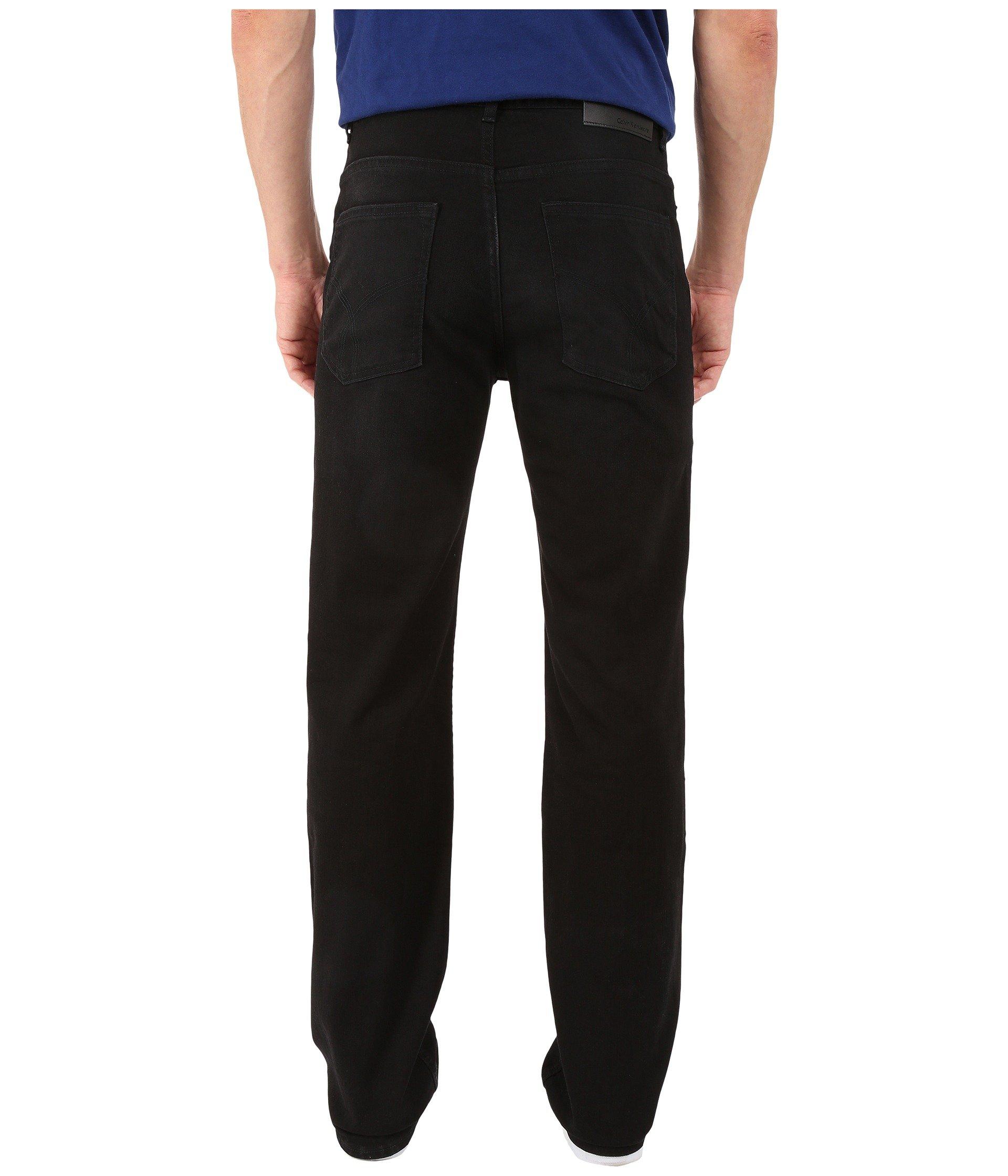 Jeans Denim Calvin Straight Klein Black Worn In 585nvrqw