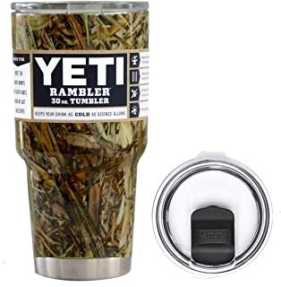 YETI Coolers 30 Ounce (30oz) (30 oz) Custom Rambler Tumbler Cup Mug Bundle with New Magslider Lid (Dipped Camouflage)