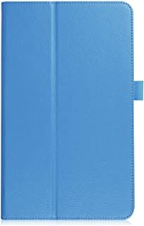Asng Samsung Galaxy Tab 4 8.0 Case - Slim Folding Cover with Auto Wake/Sleep for Galaxy Tab 4 8.0 Tablet 2014 (SM-T330 / T331 / T335) (Sky Blue)
